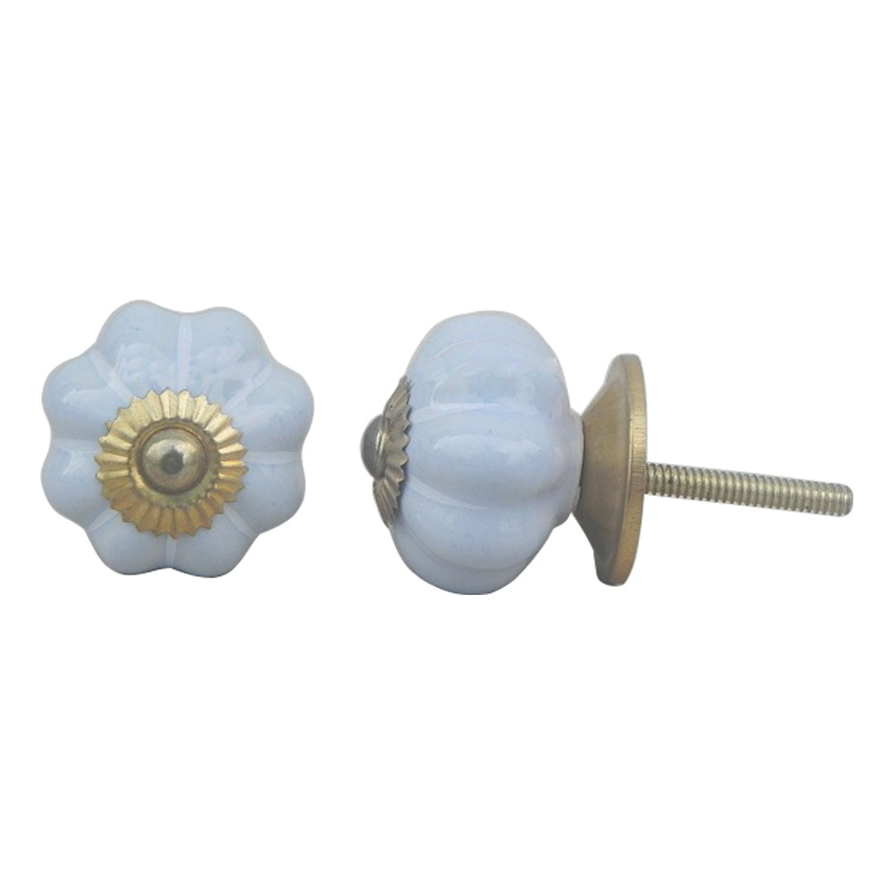 Light Blue Medium Knob
