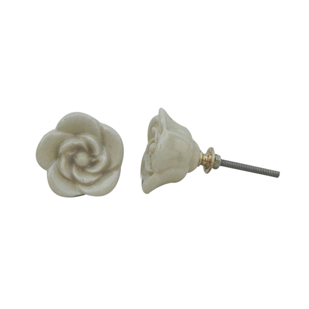Cream Rose Knob
