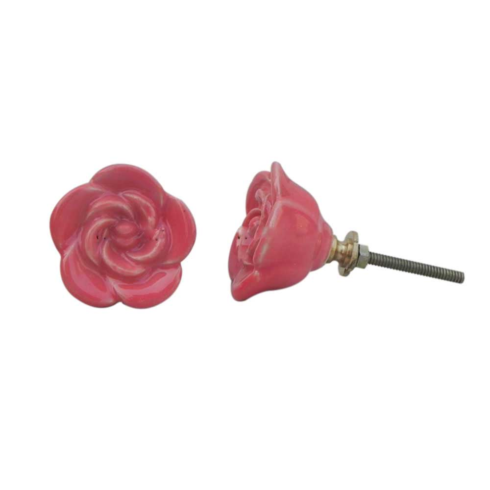 Dark Pink Rose Knob