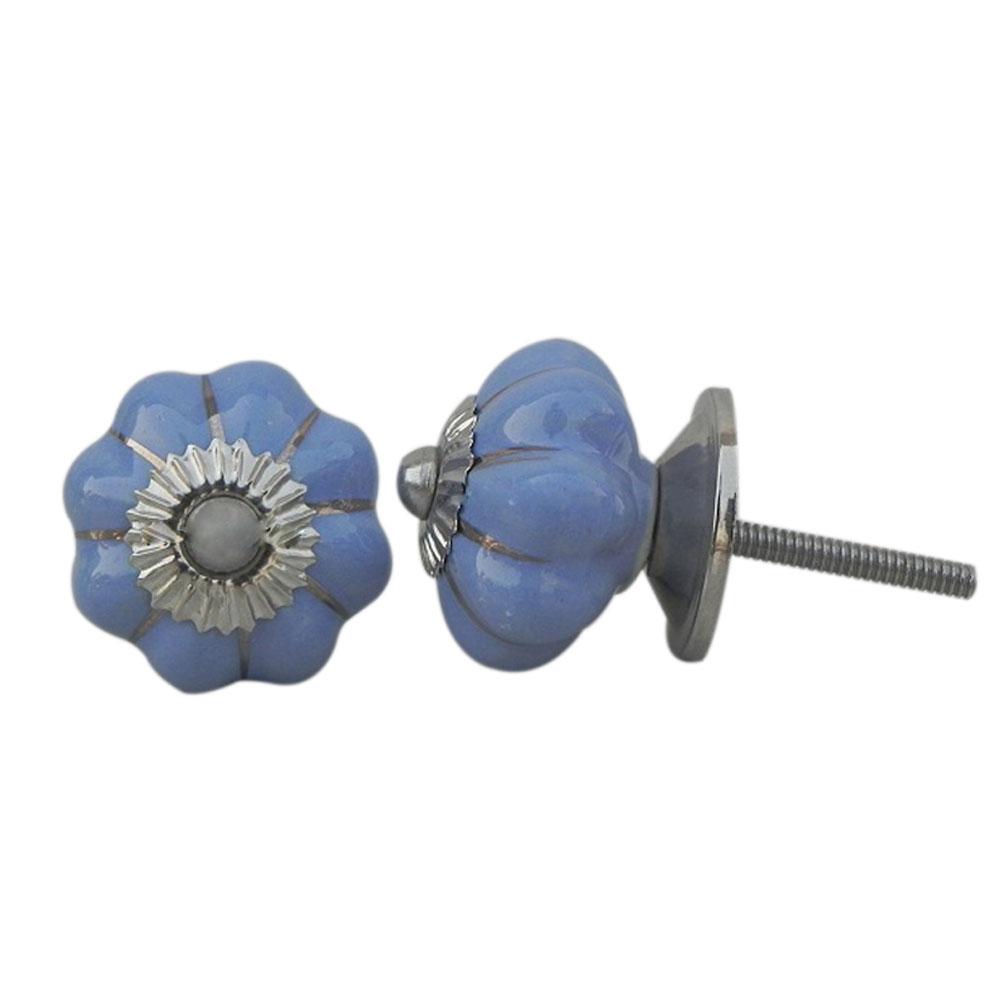 Slate Blue Medium Knob