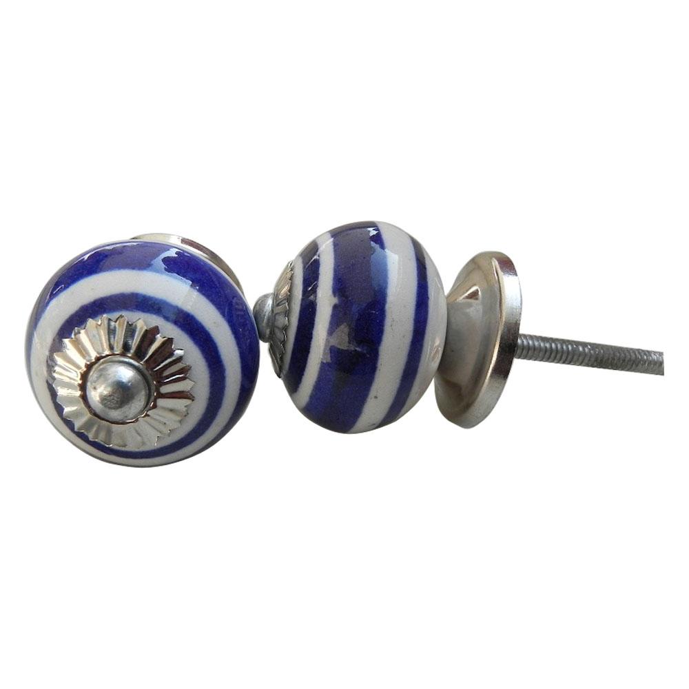 Royal Blue Rings Knob