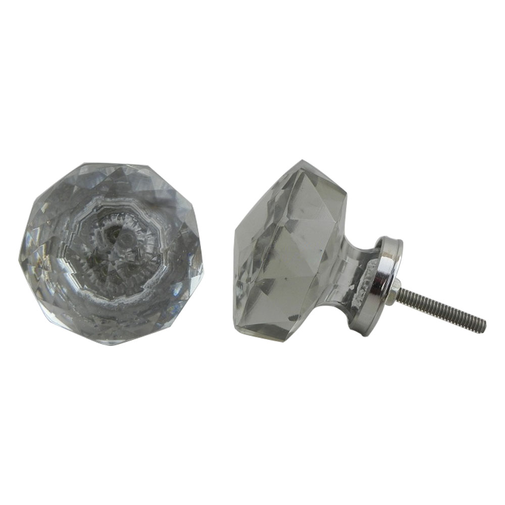 Radiant Cut Glass Cabinet Knob