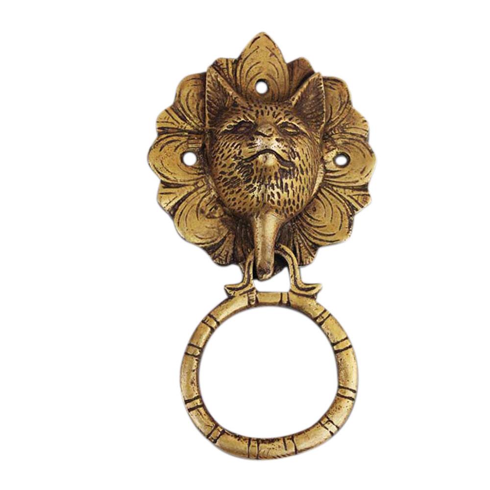 Cat Golden Door Knocker
