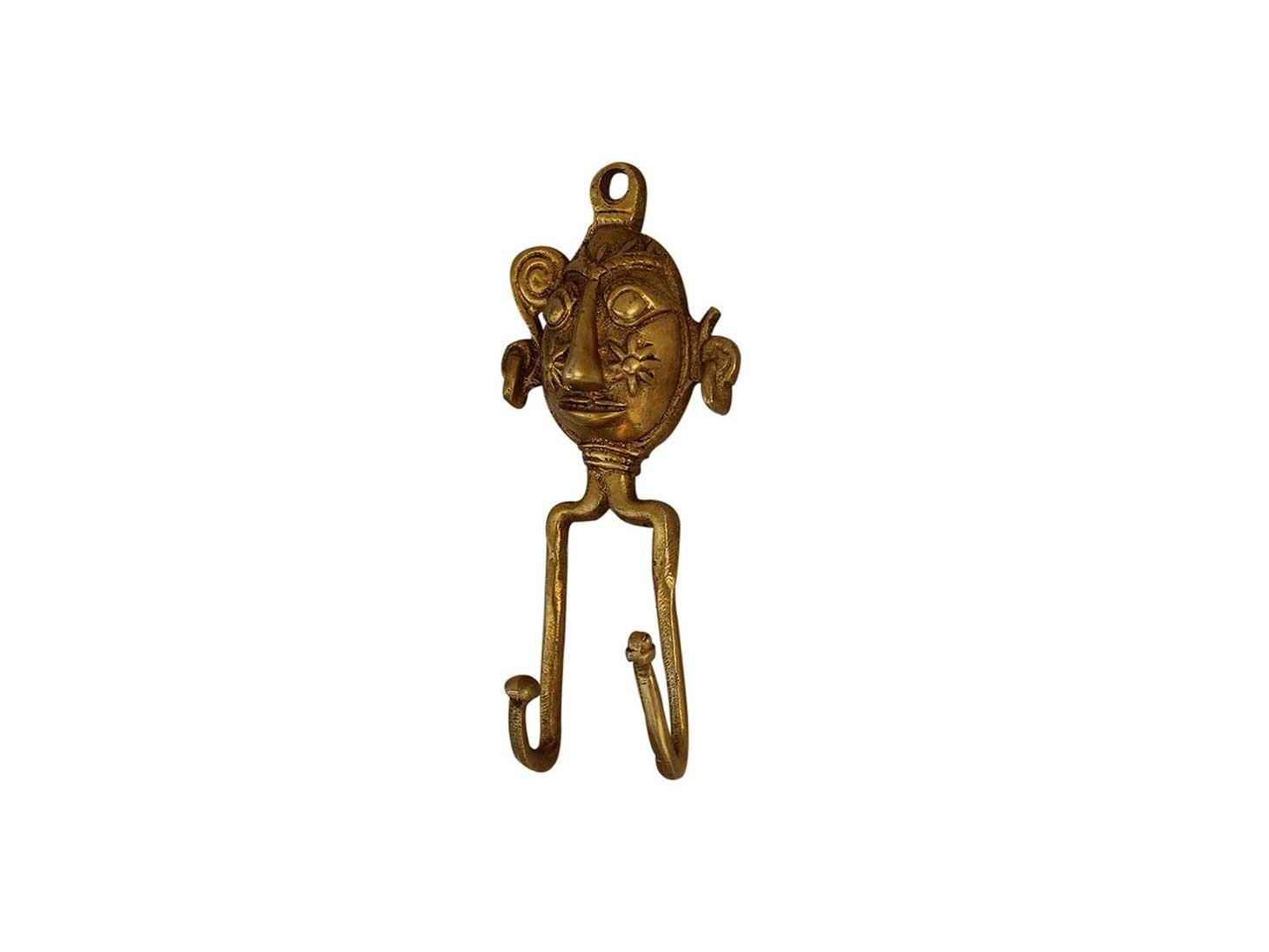 Golden Tribal Face Hooks