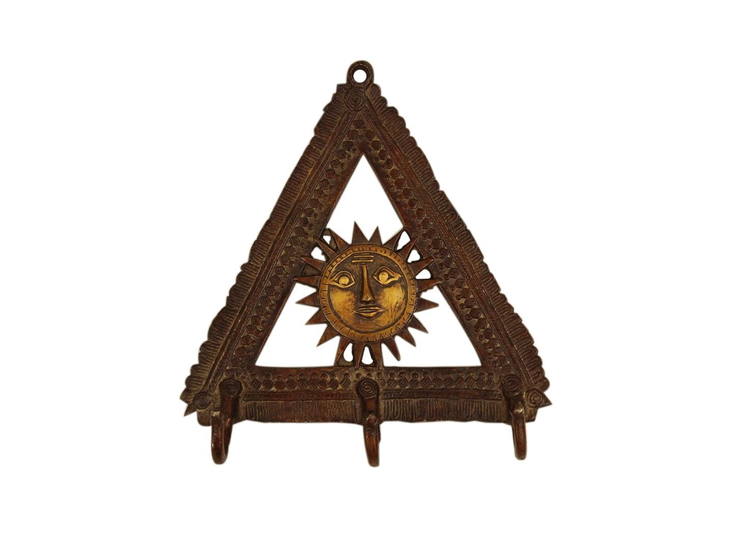 Bronze Sun Triangle Hooks