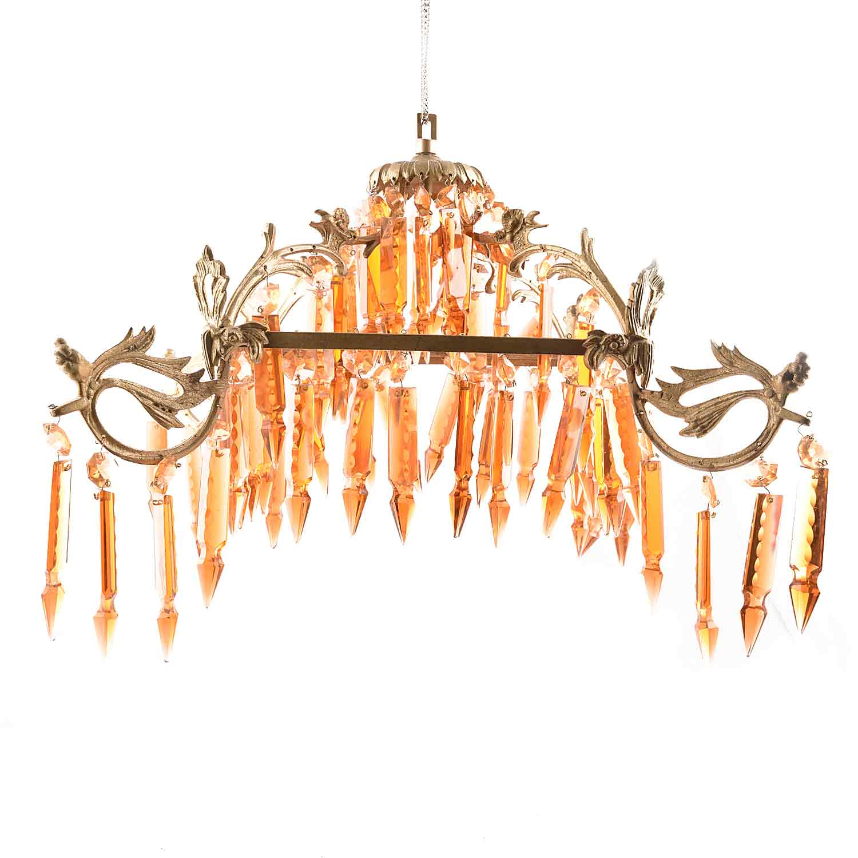 Orange Modern Glass Chandelier.