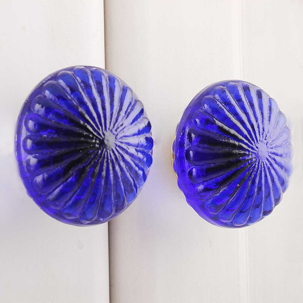 Blue Daisy Flower Knob