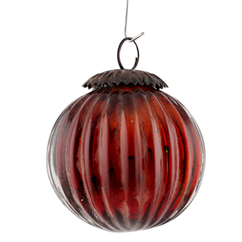 Amber Solid Melon Christmas Hanging