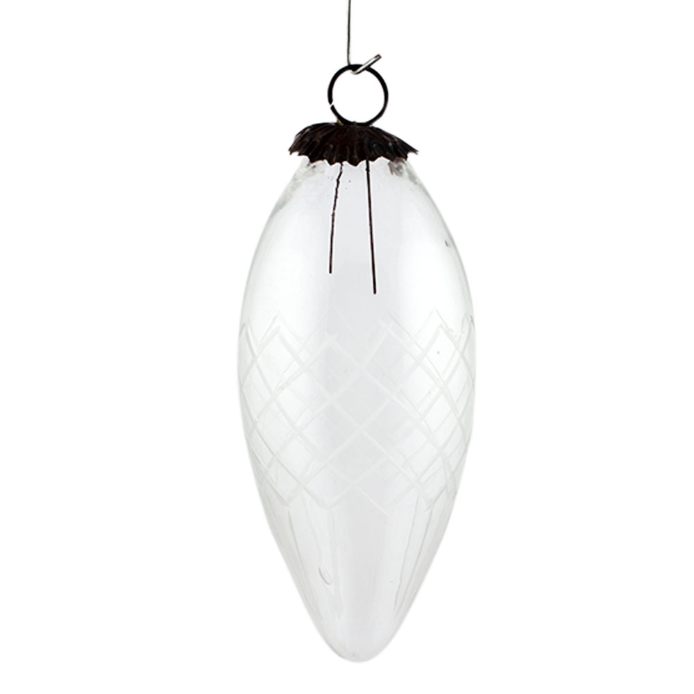 Daikon Clear Box Cut Christmas Hanging