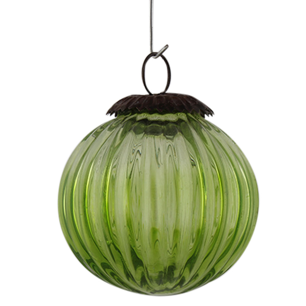 Green Solid Melon Christmas Hanging