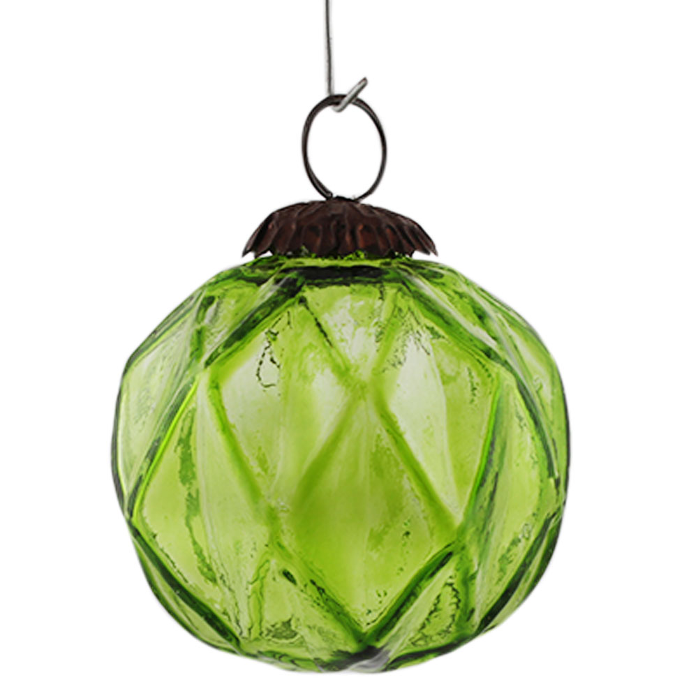 Lime Box Cut Christmas Hanging