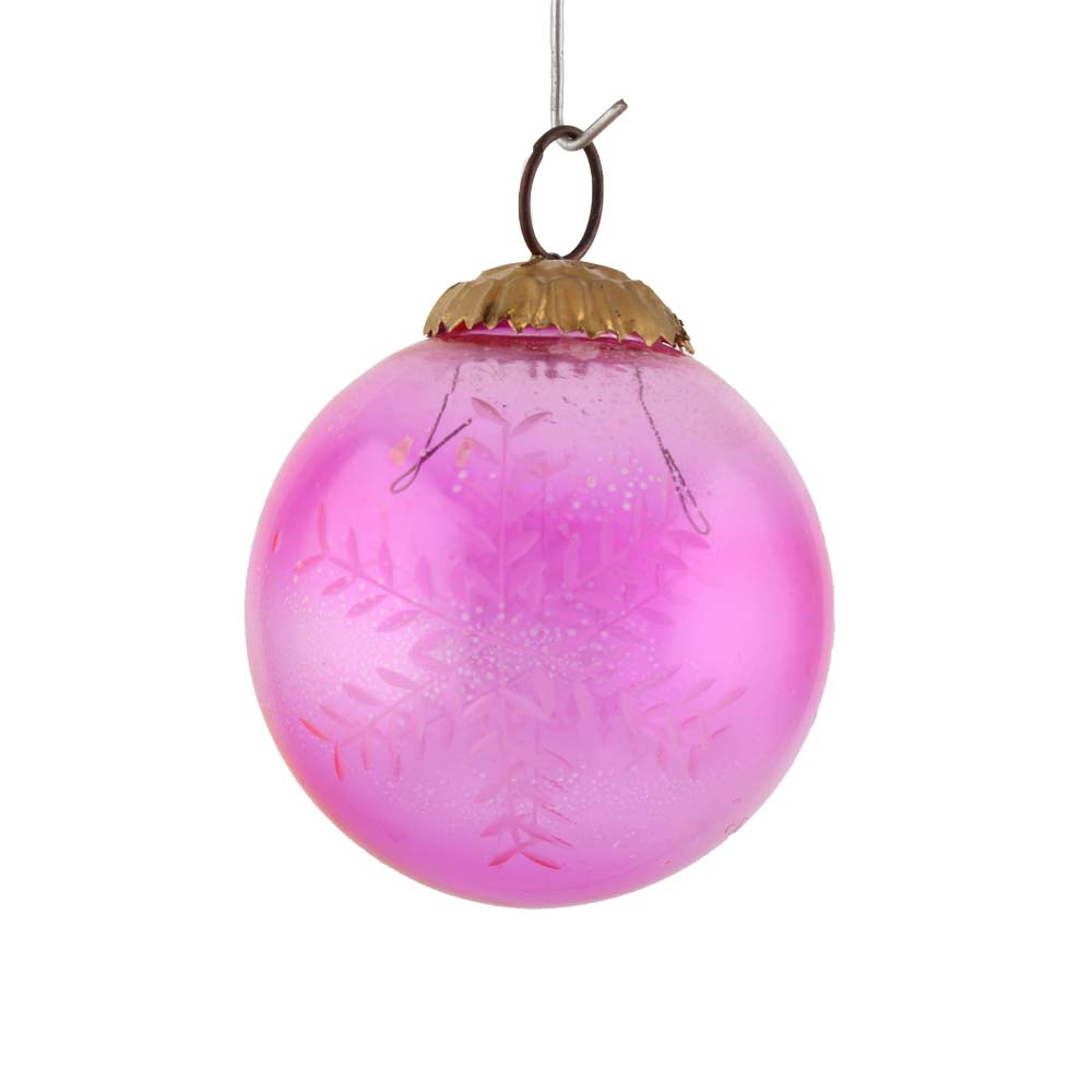 Pink Round Leaf Christmas Hanging