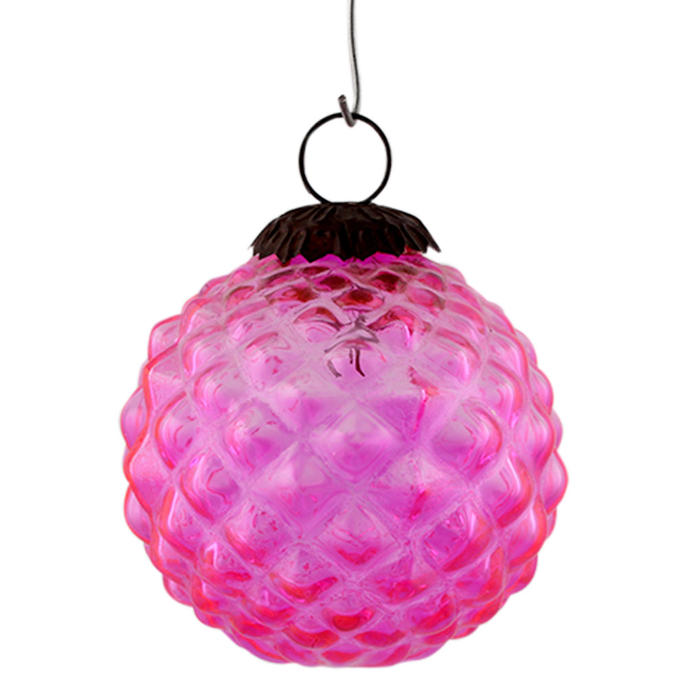 Pink Solid Custard Apple Christmas Hanging