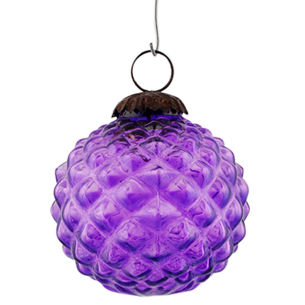 Purple Solid Custard Apple Christmas Hanging