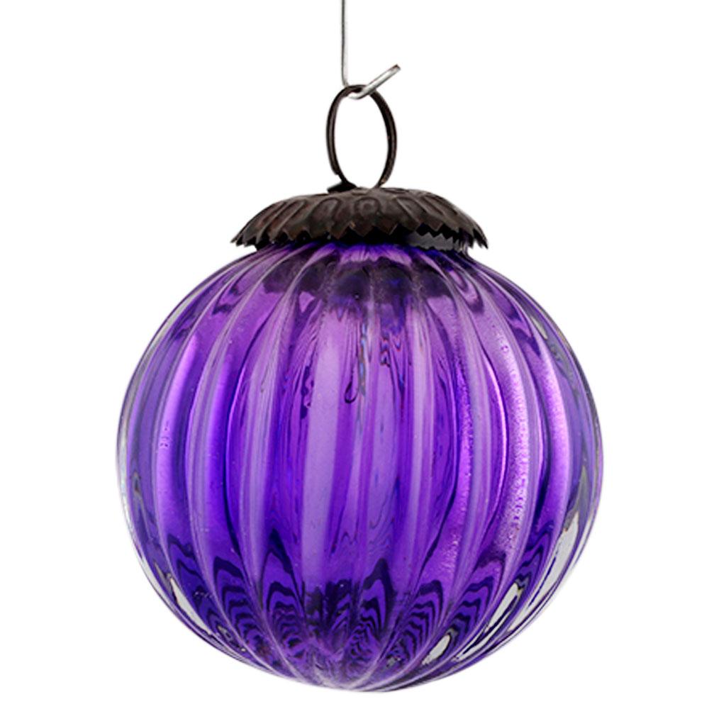 Purple Solid Melon Christmas Hanging