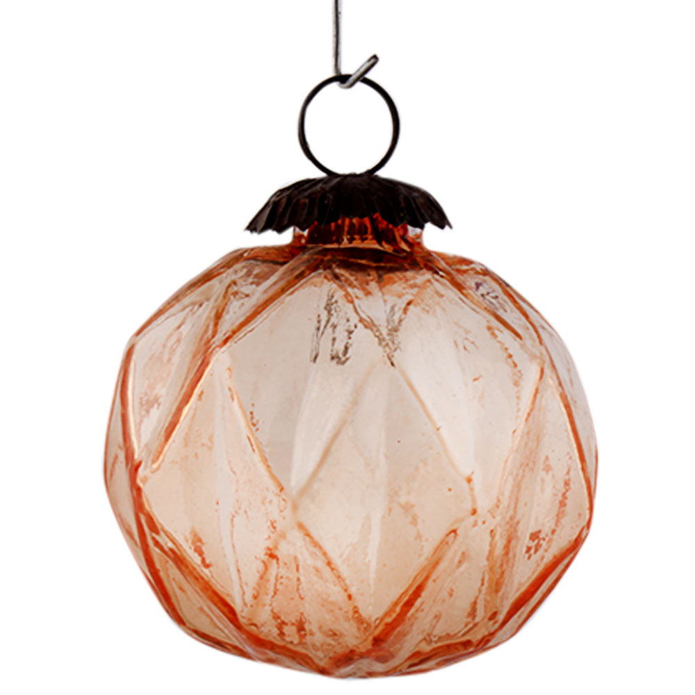 Light Amber Box Cut Christmas Hanging