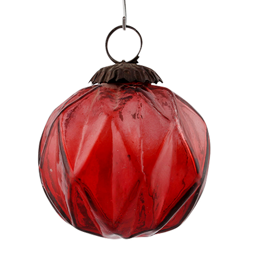 Red Solid Box Cut Christmas Hanging