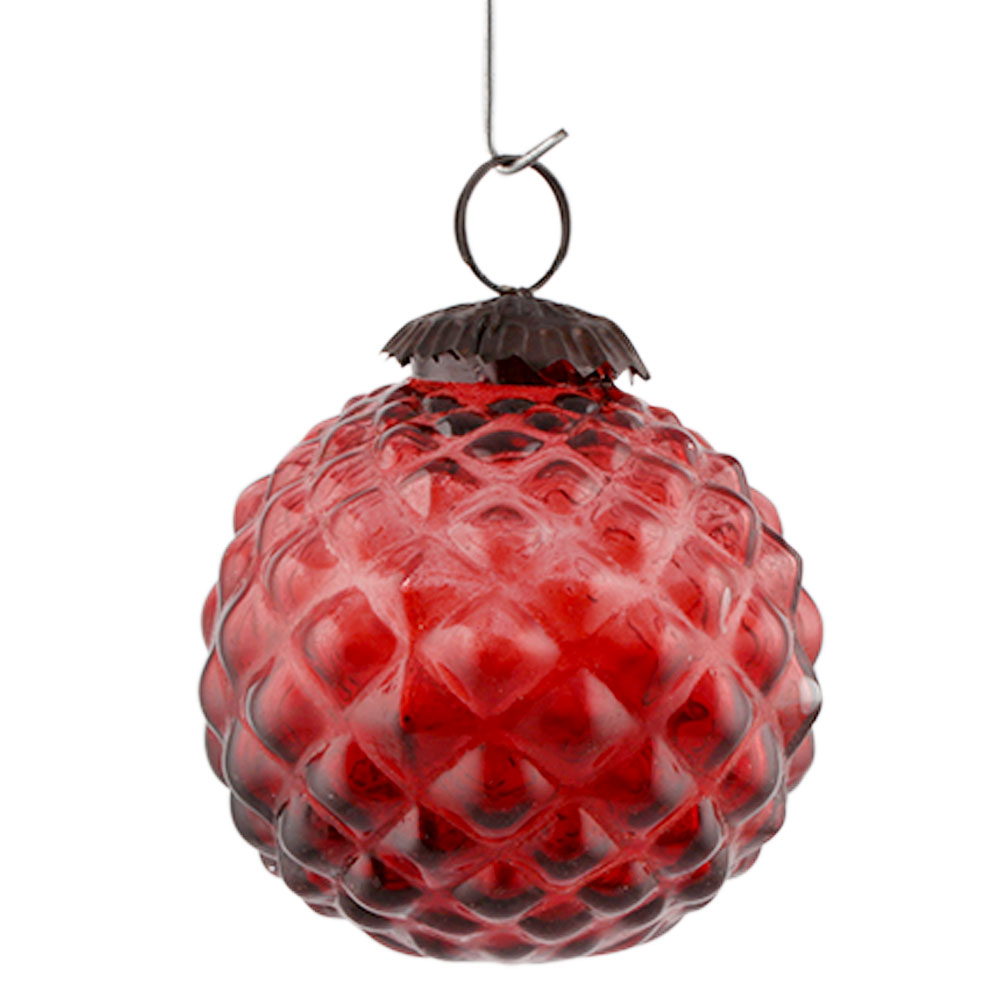 Red Solid Custard Apple Christmas Hanging