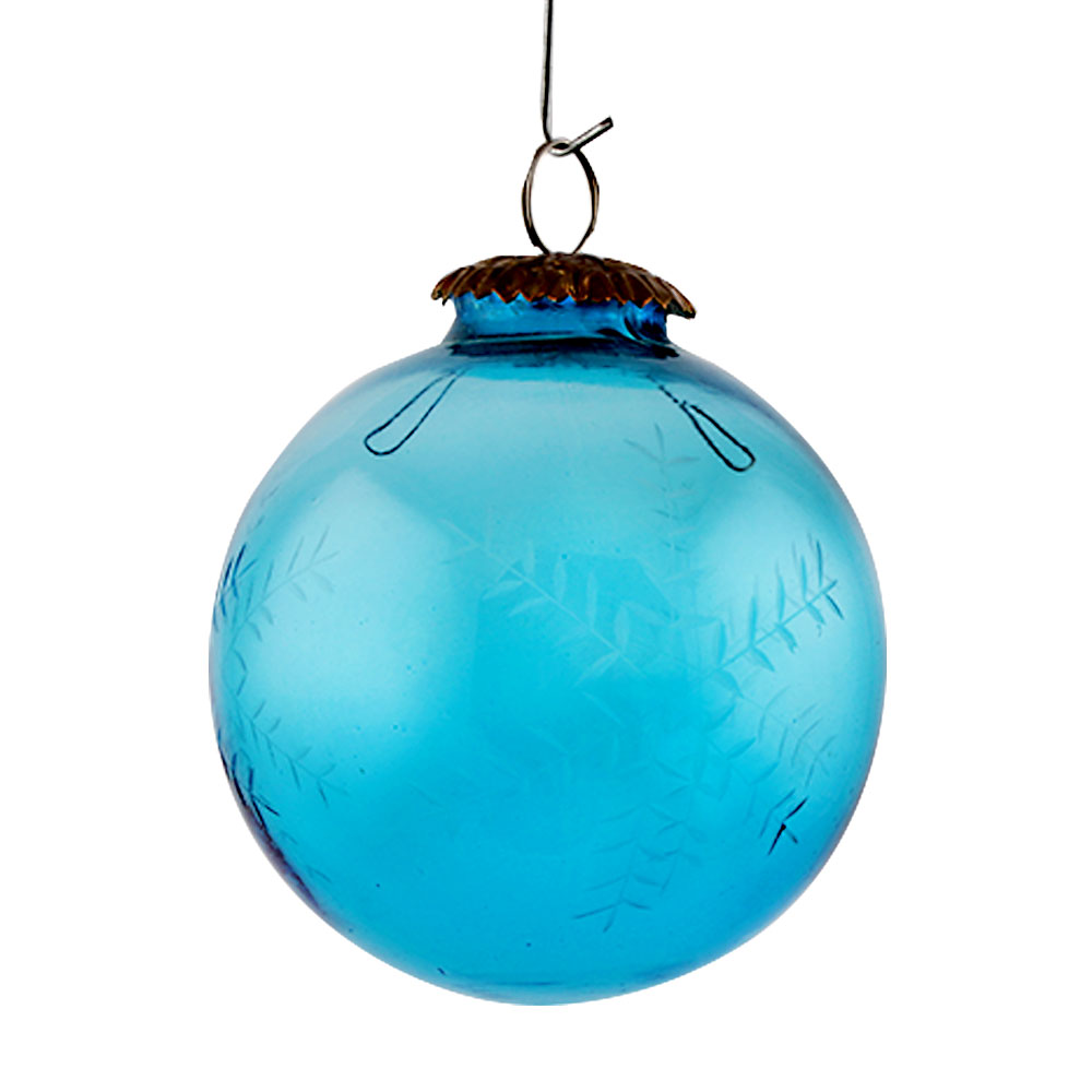 Turquoise Round Leaf Christmas Hanging Online