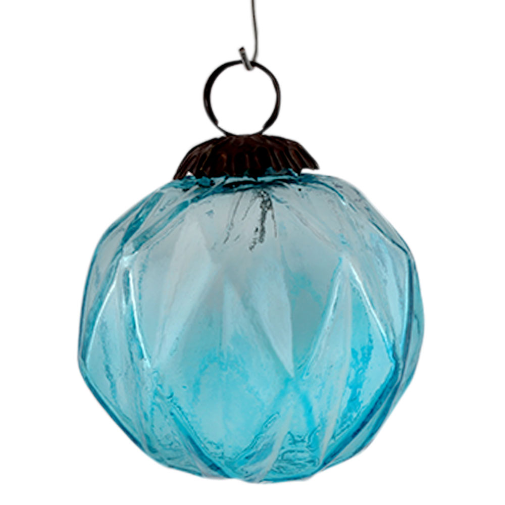 Turquoise Box Cut Christmas Hanging Online