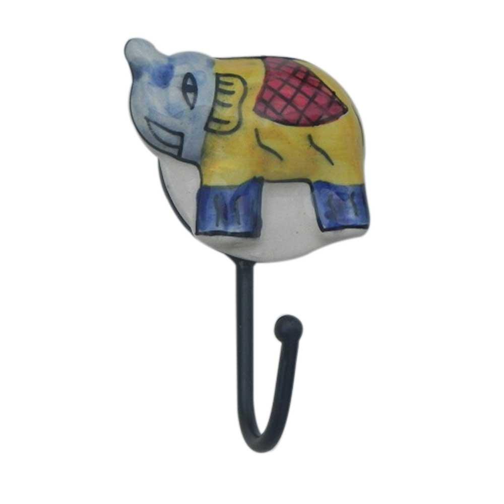 Elephant Ceramic Hooks