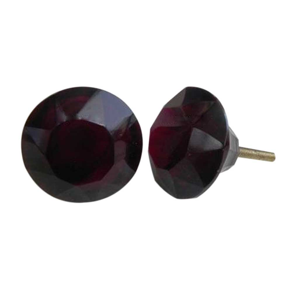 Dark Red Door Knob Large