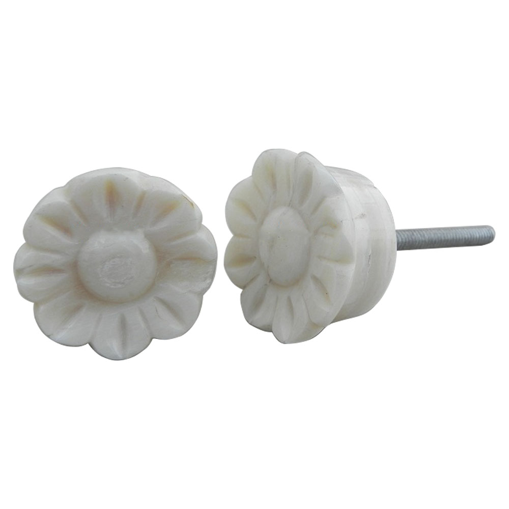 Sunflower Bone Cabinet Knobs