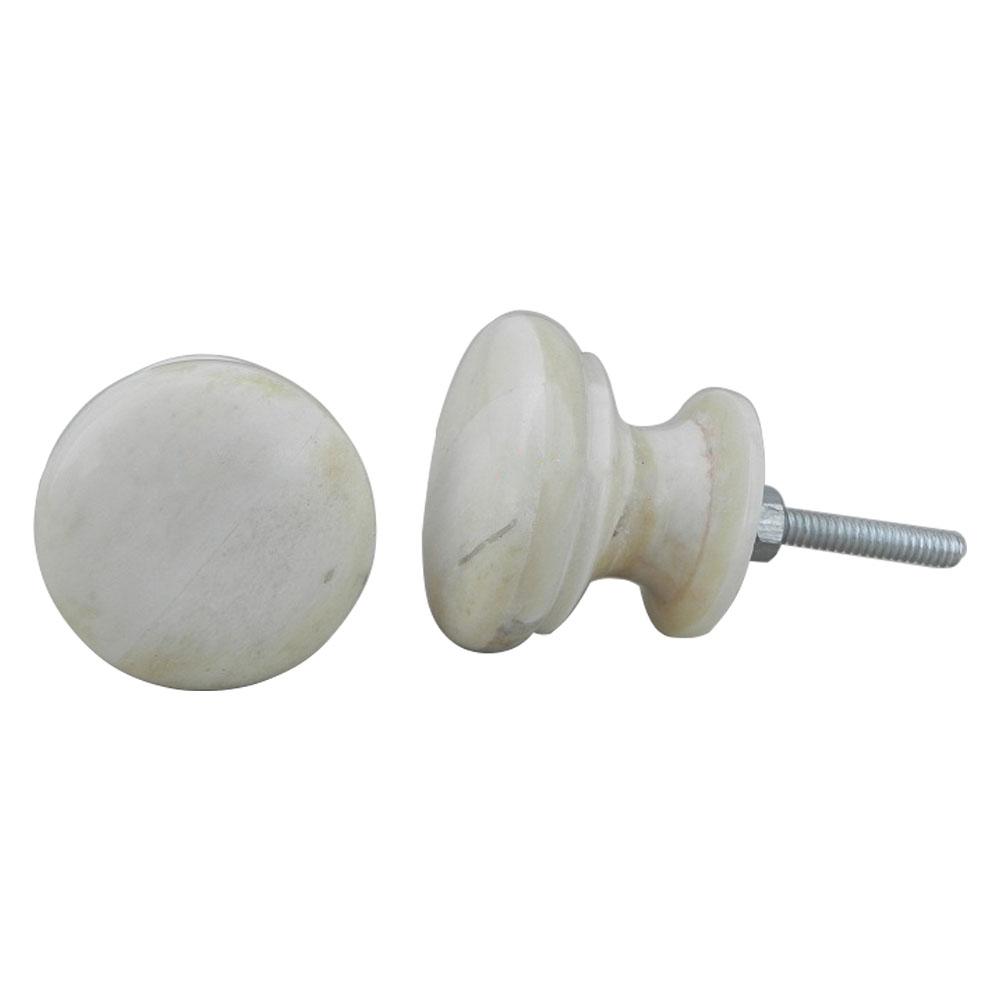 Flat Round Bone Cabinet Knobs