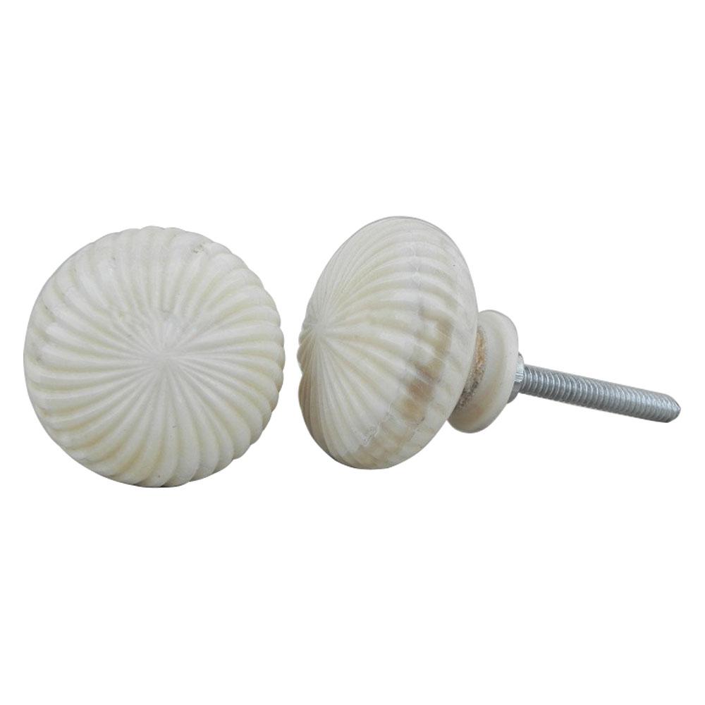 Cream Marigold Bone Knobs