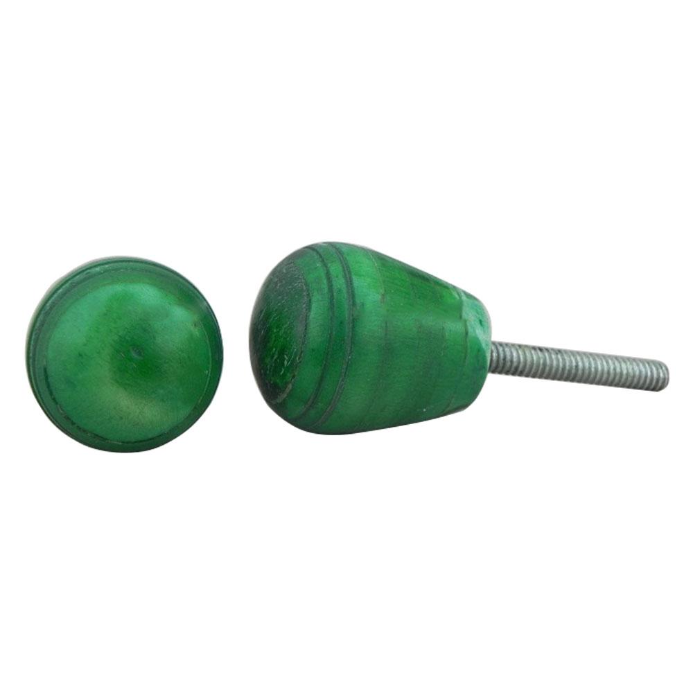 Green Top Bone Drawer Knobs