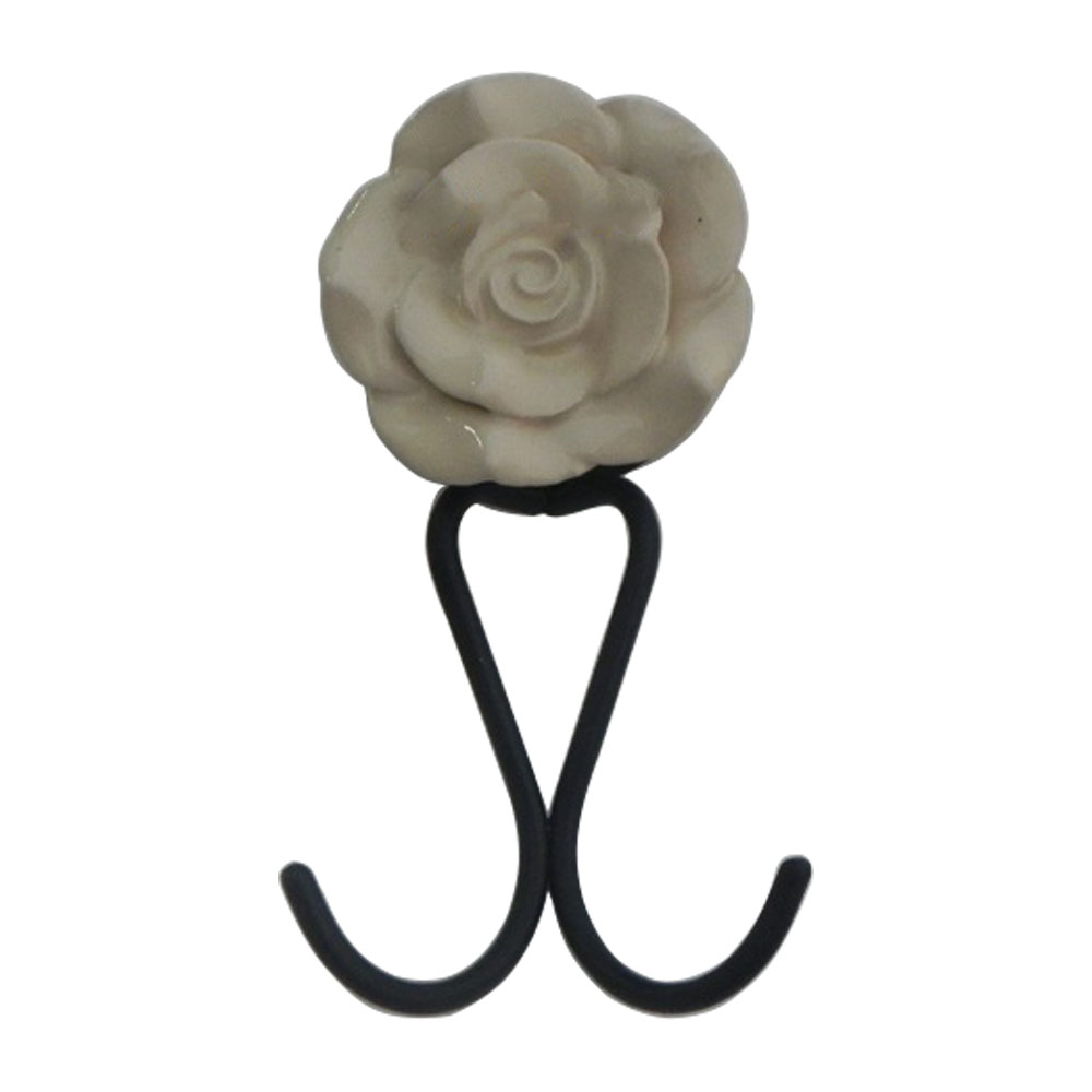 Cream Rose Hooks