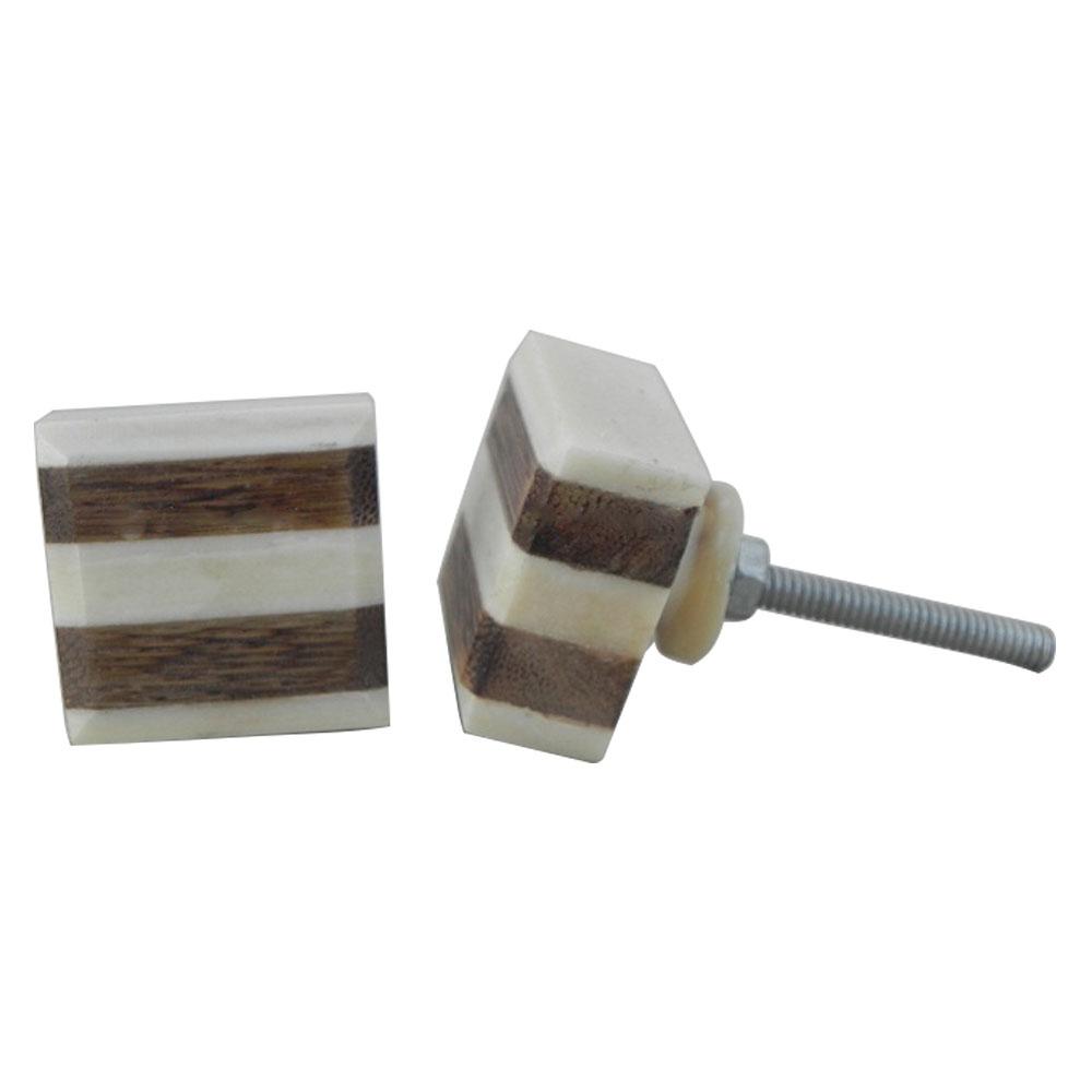 Square Bone Cabinet Knobs