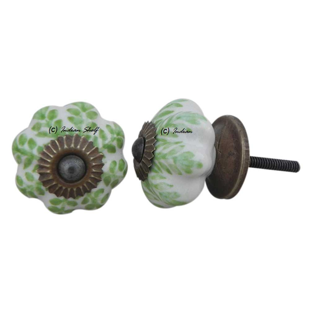 Pea Green Medium Knob