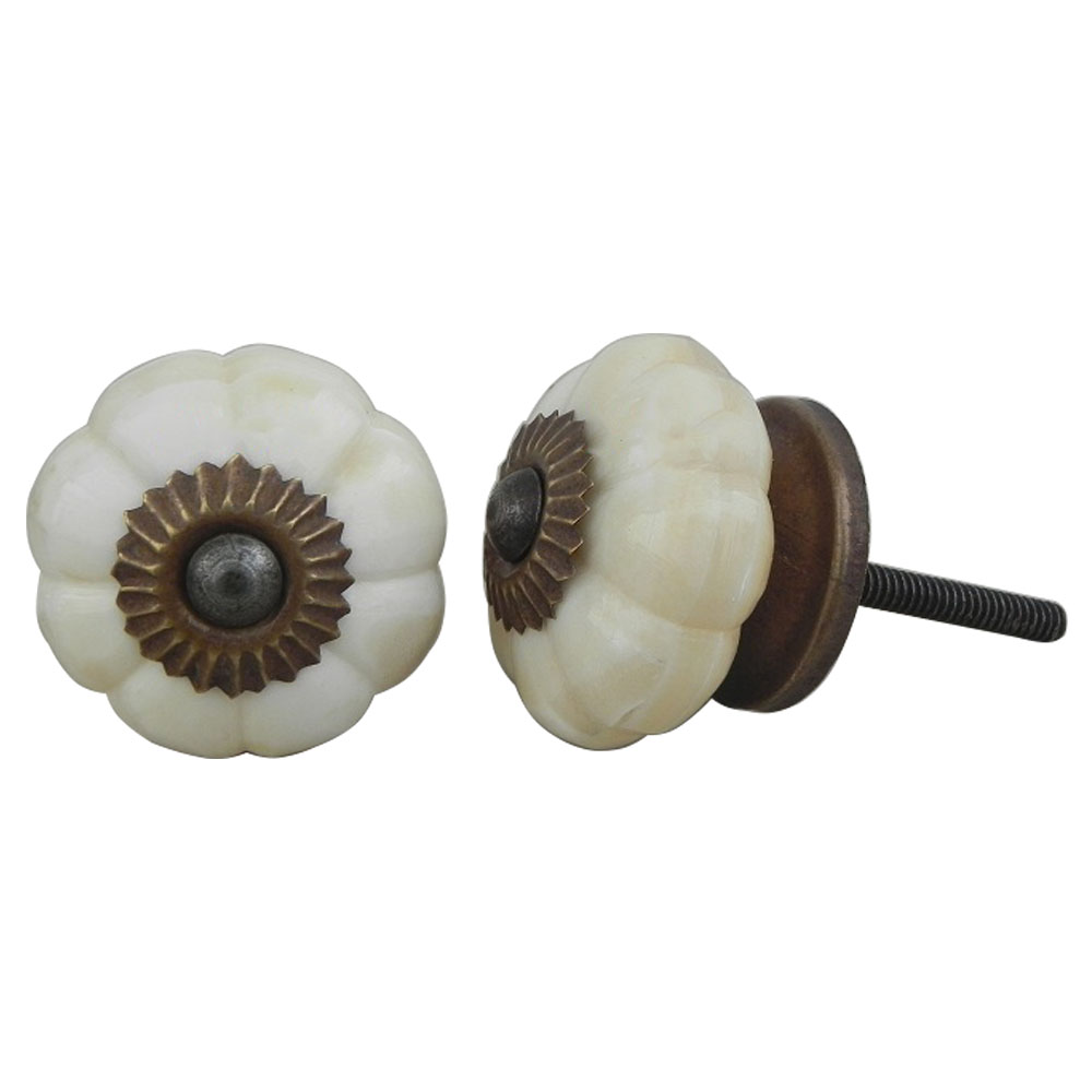 Floral Bone Drawer Knobs