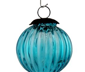Turquoise Solid Melon Christmas Hanging Online