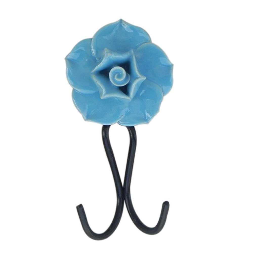 Sky Blue Rose Hooks