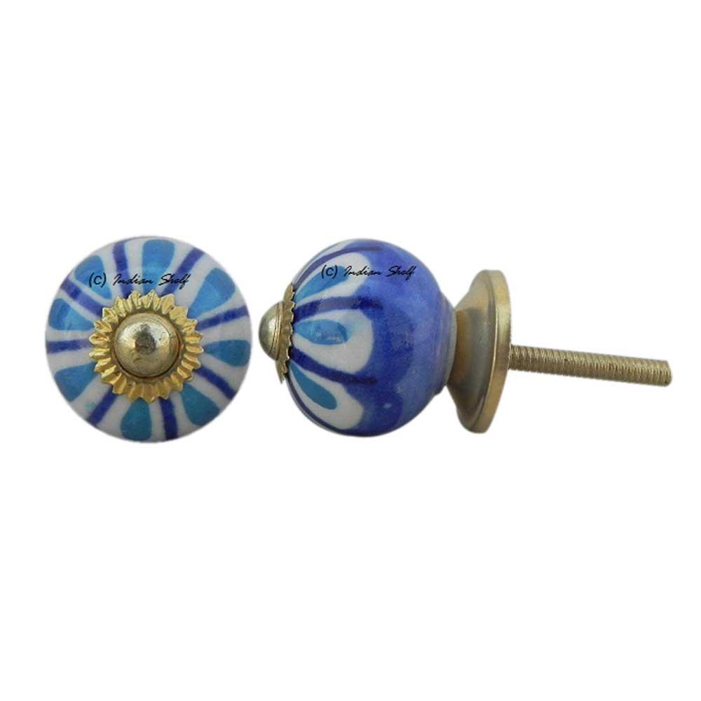 Blue Stephanotis Small Knob