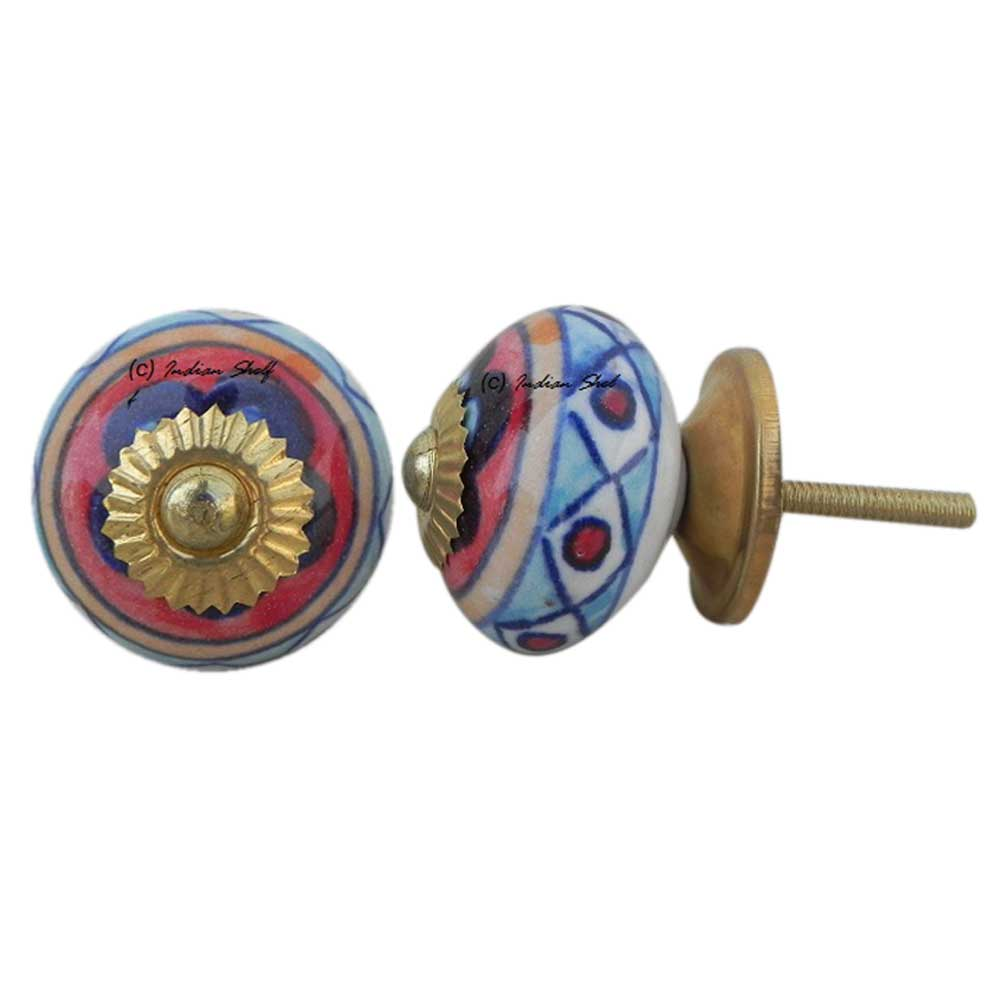 Ceramic Floral Knob