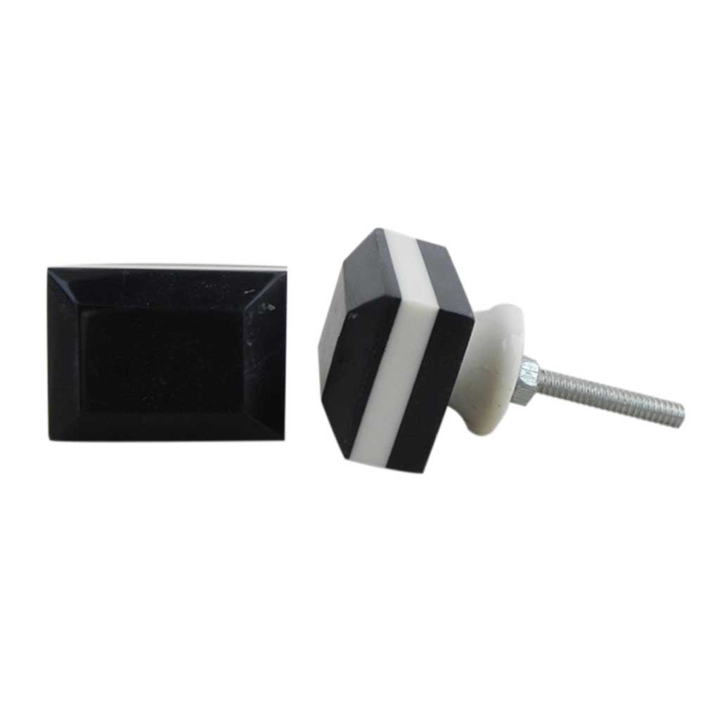 White & Black Resin Knob