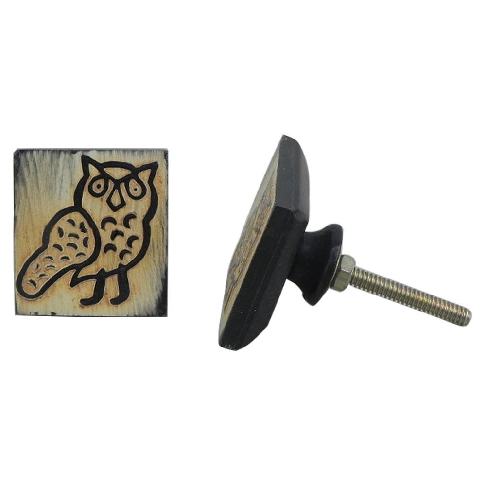 Owl Horn Knob
