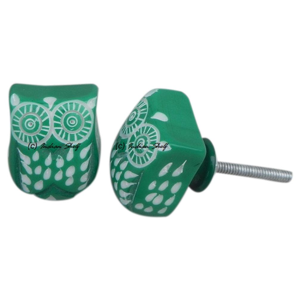 Green Owl Knob
