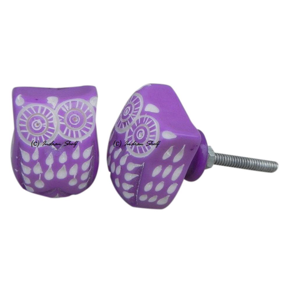 Purple Owl Knob