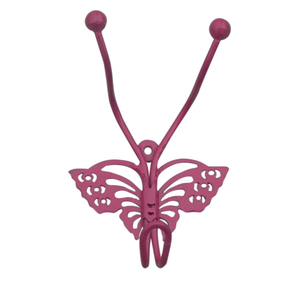 Dark Pink Butterfly Hooks