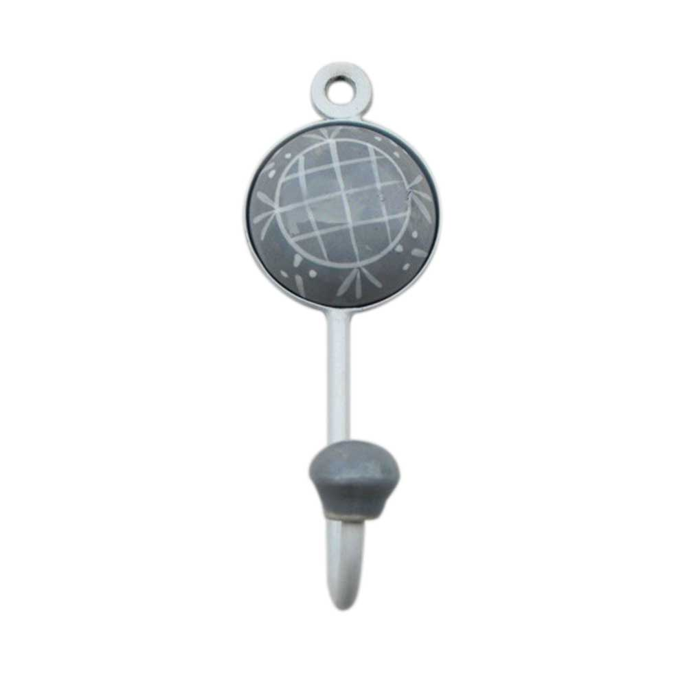Grey Check Designer Wall Hooks