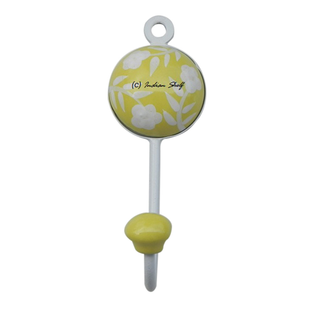 Yellow Flower Decorative Wall Hooks