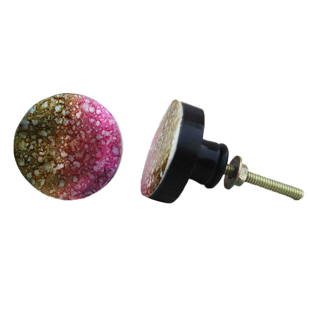Colored Bubble Pattern Knob