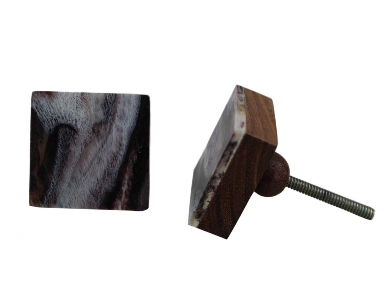 Marble Wooden Knob