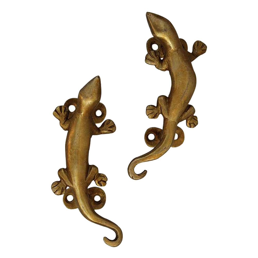 Lizard Golden Handle-1 In A Set of 2 Piece 5.25