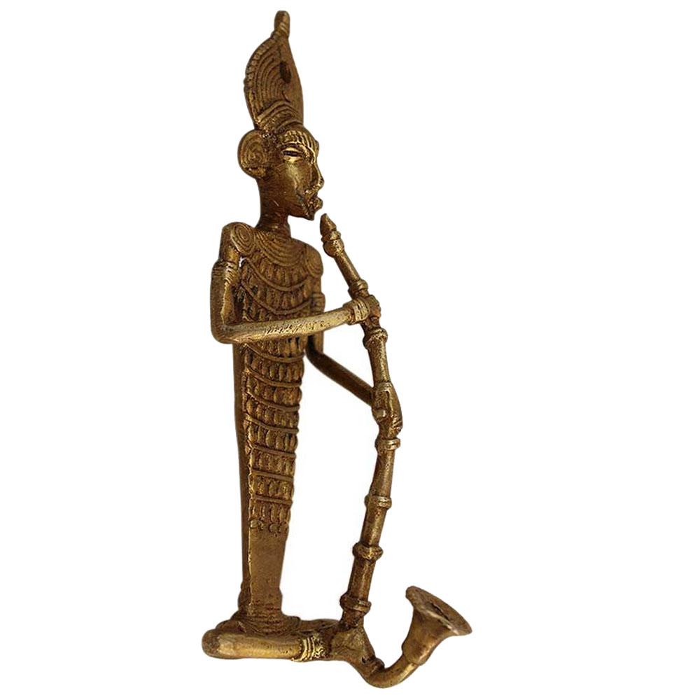Bronze Tribal Musician Door Handle