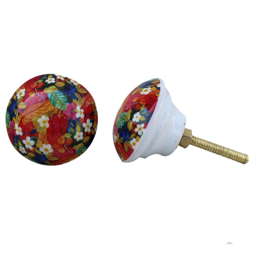 Floral Handmade Metal Knobs